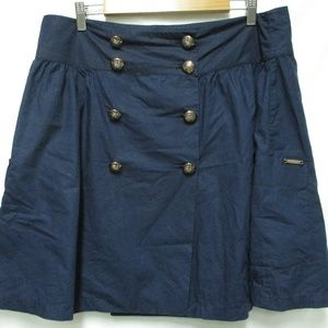 Burberry by Thomas navy button Cotton skirt 44 12